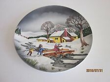 """Christmas Wall Plate Made in Western Germany 9 1/2"""""""