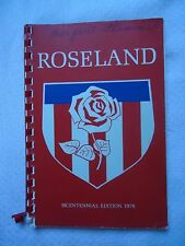 Centreville Roselyn Roseland NJ New Jersey Bicentennial Edition 1976 History Com