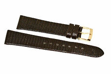 18MM BROWN GENUINE LIZARD HIGH QUALITY LEATHER WATCH BAND STRAP