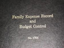 Family Expense Record and Budget Control No. 1754  Hardcover Borum & Pease