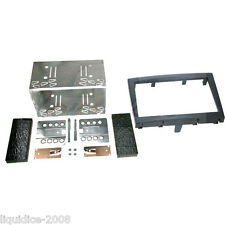 CT23PO04 PORSCHE BOXSTER 987 2009 to 2012 BLACK DOUBLE DIN FASCIA ADAPTER KIT