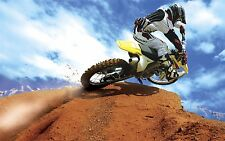 "MOTOCROSS DIRT BIKE JUMP SPORT PHOTO ART PRINT POSTER 21""x13"" 088"