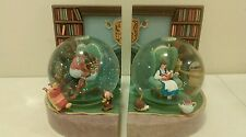 RARE DISNEY STORE BEAUTY AND THE BEAST BELLE BEAST library SNOW GLOBE Bookends