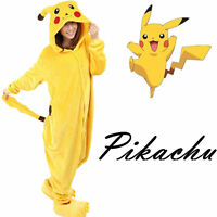 New Fancy Dress Anime Pikachu Pokemon Onesie Cosplay Costume Kigurumi Pajamas