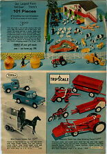 1970 ADVERT Tonka Mini Horse Trailer Pick up Truck Tru Scale Farm Tractor Wagon