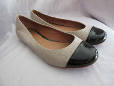 KATE SPADE NEW YORK TERRY 2-TONE CAP TOE BALLET FLATS~5.5 M
