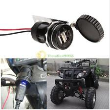 Aluminum Alloy Motorcycle Beach Car Double USB Car Charger for Cell Phone 12V