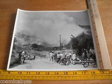 """Los Angeles Fire Department 1960s brush fire 8x10"""" Pali Ave Day St hillside"""