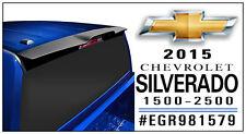 TRUCK Cab Spoiler MATTE BLACK 981579 For: CHEVY SILVERADO 1500 CREW 2014-2017