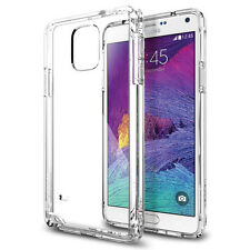 New Spigen Ultra Hybrid Bumper Case For Galaxy Note 4 Crystal Clear (SGP11117)