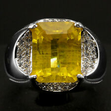 ENCHANT @@@ YELLOW & WHITE SAPPHIRE REAL 925 STERLING SILVER RING