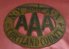 042 AAA Car Club Badge New York State Cortland County Vintage Automobile Buick