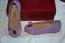 SALVATORE FERRAGAMO KIDS VARINA MINI LILA #12us LITTLE KIDS $325
