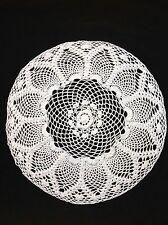 "handmade 15"" 38cm white vintage crochet doilie doily doiley"