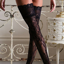 Couture Vixen Eva Lace Top Hold Ups, Black, Medium