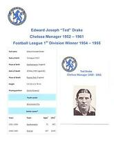 TED DRAKE CHELSEA MANAGER 1952-1961 RARE ORIGINAL HAND SIGNED PICTURE CUTTING