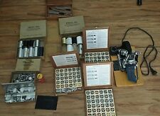 Vintage Kingsley Hot Foil Stamping Machine Package + lots of extras