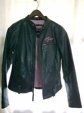 Harley Davidson Womens PINK LABEL  Black Leather Jacket S 98160-10VW  07/2010