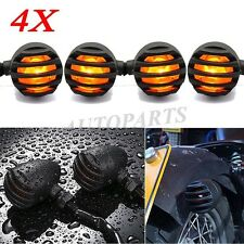 4x 12V Bullet Front Rear Turn Signal Indicator Light For Harley Dyna / Iron 883