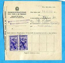 LAVORO 1952 £.20 COPPIA su MODELLO x AMMENDE A PERSONALE DIPENDENTE PT  (220040)