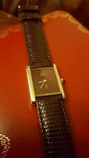 CARTIER Vermeil 18k Gold plated Women's Vintage Tank Watch - Manual