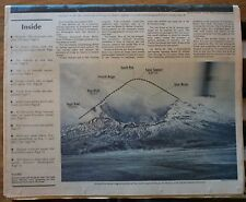 1980 Mt. St. Helens Double Newspaper Insert.  Awesome Pictures/Stories. 18 pages