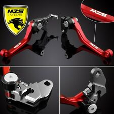 MZS Red Pivot Brake Clutch Levers For Honda CRF250R 2004-2006 CRF450R 2004-2006