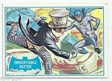 1966 Topps Batman Blue Bat with Bat Cowl Back (42B) Inhospitable Hatter