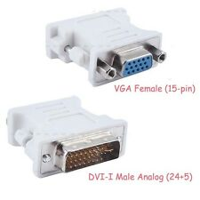 DVI-I Male (24+5 Pin) to VGA Female Connector Adapter Dual Link For Projector
