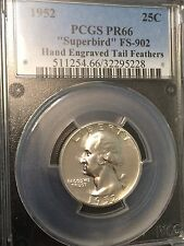 1952 Superbird Proof Washington Quarter-PCGS PR66 FS-902 With Engraved Feathers