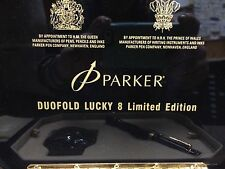PARKER DUOFOLD LUCKY 8  LIMITED EDITION FOUNTAIN PEN  MEDIUM PT NEW IN BOX