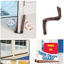 Energy Saving Draft Guard Stopper Protector Doorstop Twin Door