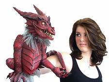 HALLOWEEN RED DRAGON  PUPPET PROP YARD DECORATION HAUNTED HOUSE
