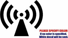 RADIO TOWER Wifi Symbol Funny Vinyl Decal Sticker Car Window Bumper Laptop 6""
