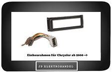 Einbauset Einbaurahmen + ISO Adapter für Chrysler ab 2000 --    Radioblende 1DIN