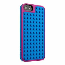 Belkin iPhone 5S, 5 & iPhone SE LEGO Builder Case Cover Blue/Purple F8W283ttC01