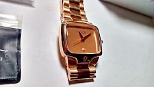 Men's Nixon The Big Player Gold Tone Stainless Steel Watch NOS Beautiful