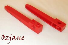LEGO SPARES PARTS 2823 TECHNICS FORKLIFT FORK X 2 PCS RED