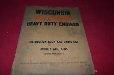 Wisconsin AENS AEN Engine Parts & Operation Manual RWPA
