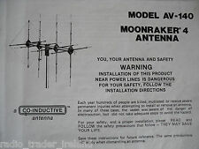 AVANTI MOONRAKER 4 (INSTRUCTION MANUAL ONLY)...........RADIO_TRADER_IRELAND.