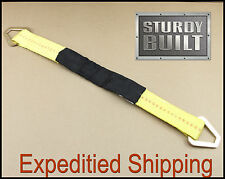 """2x 24"""" Axle Straps Car Trailer Hot Rod Tow Truck Off Road 4x4 Tie Downs Ratchet"""