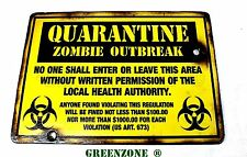 Quarantena Zombie Outbreak LEGNO ESERCITO / Airsoft SIGN FOR KIDS Bedroom Door / Muro
