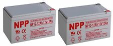 NPP 12V 12 Amp 12Ah F2 AGM Rechargeable Deep Cycle Battery replaces CA12120 (2)