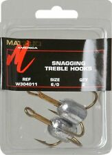 10 Matzuo W304011 6/0 Weighted Snag Treble Fishing Hooks 1.25 Ounce - 5pks of 2