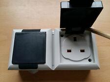 IP54 Splash Proof Waterproof Socket 2 Gang Socket Quality Great Value!