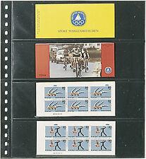 Lindner Klarsichthüllen glasklar, mit schwarzem Zwischenblatt im 10er Pack 824