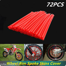 Motocross Dirt Bike Enduro Wheel Rim Spoke Skins Cover For ATK Honda Red 72pcs