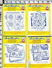 13 Envelopes Aunt Martha's Hot Iron Transfers for Embroidery Fabric Paint