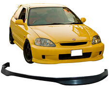 JDM T-R Black PP Front Bumper Lip Spoiler Bodykit Fit for 99-00 Honda Civic EK