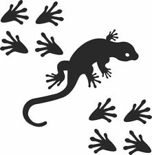 GECKO+8 footprints Car Decal Vinyl, Drift Sticker, JDM, EURO, DUB Tribal Lizard